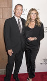 TFF 2017 The Circle Premiere. NEW YORK, NY , USA - APRIL 26: Tom Hanks and Rita Wilson attend Tribeca Gala: The Circle Premiere during the 2017 Tribeca Film Royalty Free Stock Photos