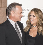 TFF 2017 The Circle Premiere. NEW YORK, NY , USA - APRIL 26: Tom Hanks and Rita Wilson attend Tribeca Gala: The Circle Premiere during the 2017 Tribeca Film Stock Photo