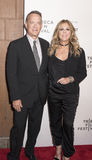 TFF 2017 The Circle Premiere. NEW YORK, NY , USA - APRIL 26: Tom Hanks and Rita Wilson attend Tribeca Gala: The Circle Premiere during the 2017 Tribeca Film Royalty Free Stock Photo