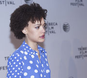 TFF 2014. New York, NY, USA - April 18, 2014: Actress Britne Oldford attends the 2014 Tribeca Film Festival Word Premiere Narrative: 'Loitering With Intent' at royalty free stock photo