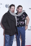 TFF 2014. New York, NY, USA - April 18, 2014: Sam Rockwell and Brian Geraghty attend the 2014 Tribeca Film Festival Word Premiere Narrative: 'Loitering With royalty free stock images