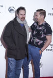TFF 2014. New York, NY, USA - April 18, 2014: Sam Rockwell and Brian Geraghty attend the 2014 Tribeca Film Festival Word Premiere Narrative: 'Loitering With royalty free stock photo