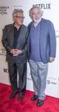 TFF 2017 - Tribeca Talks: Director`s Series:Noah Baumbach. NEW YORK, NY , USA - APRIL 24: Actors Dustin Hoffman and Robert De Niro attend Tribeca Talks: Director royalty free stock photo