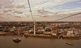 Tfl London emiratów wagon kolei linowej Zdjęcia Stock