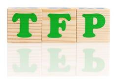 Tfp слова Стоковые Изображения RF