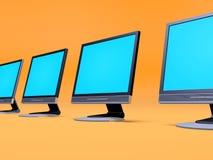 Tft Bildschirmanzeigen Lizenzfreies Stockfoto