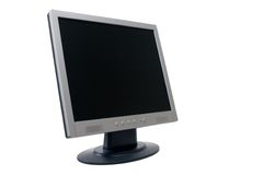 TFT Flat Panel Monitor. TFT monitor isolated over white background with clipping path Stock Photos
