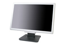 TFT monitor. Angled widescreen TFT monitor isolated on white Royalty Free Stock Photo