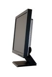 TFT monitor. Black isolated liquid-crystal monitor royalty free stock photos