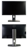 TFT Monitor. Front and rear view TFT monitor, isolated on white background royalty free stock photos
