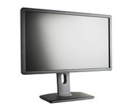 TFT Monitor. Front view TFT monitor, isolated on white background royalty free stock images