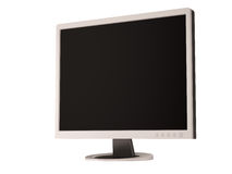 TFT monitor isolated on white. Computer tft or lcd monitor isolated on white Stock Image