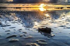 Tg Aru Sunrise. December 1st 2016, Labuan Malaysia. Bad shoe with beautiful sunrise at Tg Aru beach. 05 Stock Image