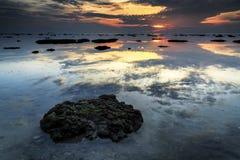 Tg Aru Sunrise. Labuan Malaysia. Bad shoe with beautiful sunrise at Tg Kubung beach Stock Image