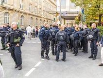 25tg verjaardag van Duitse Eenheid in Frankfurt Stock Foto's