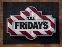 TGI Friday's Sign (Logo) Royalty Free Stock Photography