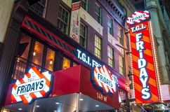 TGI Fridays neon sign Stock Image