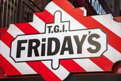 TGI Fridays restaurant Stock Photography