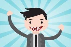 TGIF счастливое в стиле вектора Стоковые Изображения RF