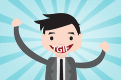 TGIF happy in vector style Royalty Free Stock Images