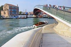 Täglicher Verkehr in Venedig Lizenzfreie Stockfotos
