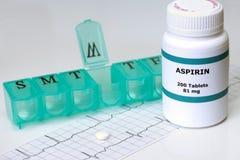 Tägliches Aspirin Stockfotos