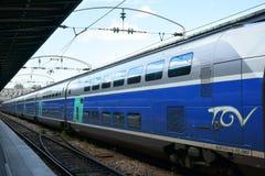 TGV训练Gare de l ` Est巴黎法国 免版税库存图片