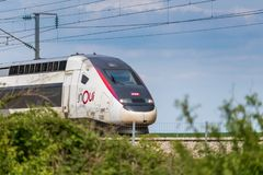French High Speed Train stock images