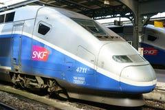 TGV bilden Gare de l ` Est Paris Frankreich aus Lizenzfreies Stockbild