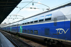 TGV bilden Gare de l ` Est Paris Frankreich aus Lizenzfreie Stockbilder