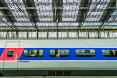 TGV high speed french train stock photography