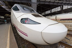 TGV. high speed train. Spain. France Station. Barcelona Stock Photos