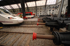 TGV high speed train in Sants station in Barcelona Stock Images