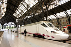 TGV. Hochgeschwindigkeitszug, Spanien stockfoto
