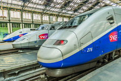 TGV hoge snelheids Franse trein Royalty-vrije Stock Fotografie
