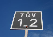 TGV Railway Sign Stock Images