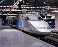 TGV Train, Brussels. Royalty Free Stock Photos