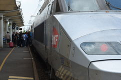 TGV train in Chatellerault station, France Stock Photos