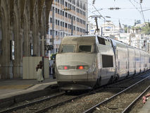 TGV train in Nice, France Stock Photography