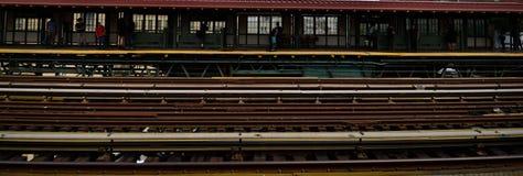 125th街道的纽约地铁 免版税库存图片