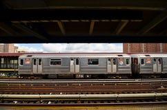 125th街道的纽约地铁 库存照片