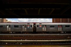 125th街道的纽约地铁 库存图片