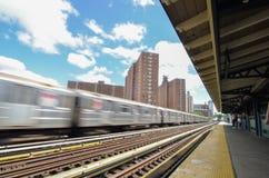 125th街道的纽约地铁 免版税库存照片