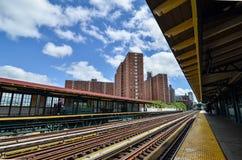 125th街道的纽约地铁 图库摄影