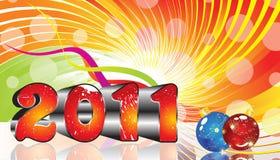 Thème 2011 coloré d'an neuf d'Absract Images libres de droits