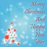 Thème abstrait de Noël Photo libre de droits