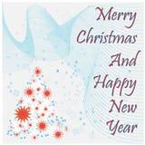 Thème abstrait de Noël Image stock