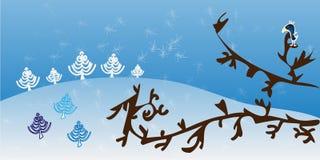 Thème abstrait de Noël Image libre de droits