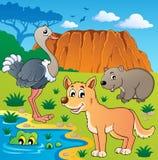 Thème australien 5 d'animaux Images stock