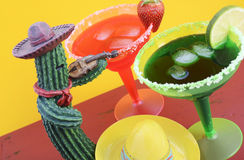 Thème coloré heureux de partie de Cinco de Mayo Photographie stock libre de droits